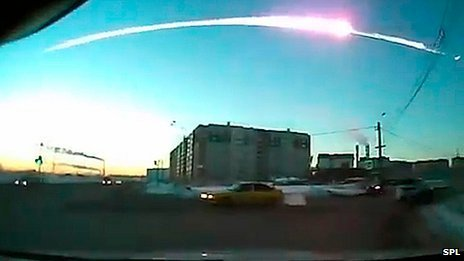 Shockwave from Russian meteor circled globe twice BBC News: The shock wave from an asteroid that burned up over Russia in February was so powerful that it traveled twice around the globe, scientists say. They used a system of sensors set up to detect evidence of nuclear tests and said it was the most powerful event ever recorded by the network. More than 1,000 people were injured when a 17m, 10,000-tonne space rock burned up above Chelyabinsk. The study appears in the journal Geophysical Research Letters. Photo: Meteor over Russia (SPL)