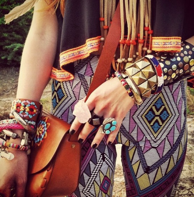 Hippie arm candy……