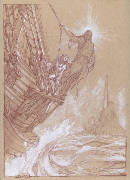 juliedillon:  Sketches from Middle-Earth: Visions of a Modern Myth by Donato Giancola. More sketches can be seen at his blog post on Muddy Colors.
