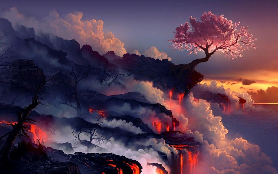 """Scorched earth"" by Daniel Conway (digital art). >https://www.facebook.com/beauty.tree.earth"