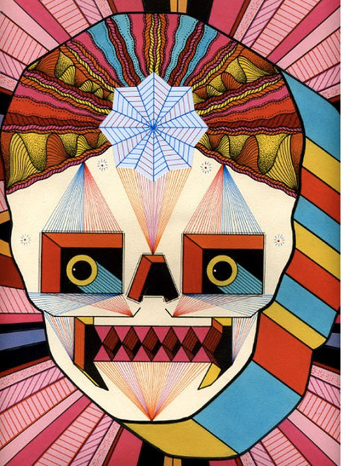juxtapozmag:  PSYCHEDELIC. ROBOT. SKULLS. See the whole series by David M. Cook.   oh yes all three. love.