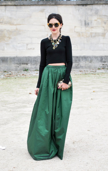 modcloth:  A swoon-worthy emerald maxi skirt via Style Sight.