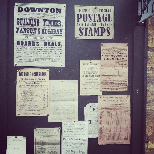 inthecolonies:  Downton Abbey post office notice board.
