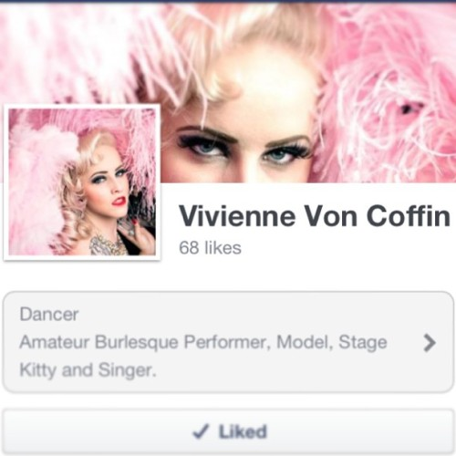 Please go and like my #burlesque page on Facebook! Keep up to date with what I'm upto with shows I'm performing or working in! 💖💕