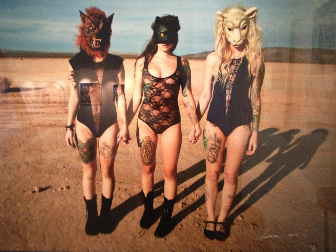 """Masks"" by Sawa.  Taken at iam8bit Gallery in Echo Park (Grace and Ritual exhibition)."