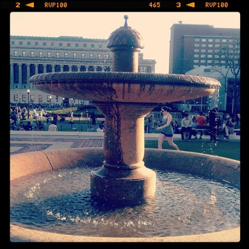 The fountain on Columbia's Low Library Plaza - one of my favorite spots on campus. #columbiapix