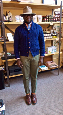 portlandtradingco:  mainestreets:  Kazeem at this shop Portland Trading Company. Check out their tumblr: http://portlandtradingco.tumblr.com/  Much love and hugs to Laura and all the good folks in front and behind the scenes @FIND!!!!! Thanks for the shoutouts - much appreciated.  this man is so dapper and awesome. He is one of my favourite characterr in town