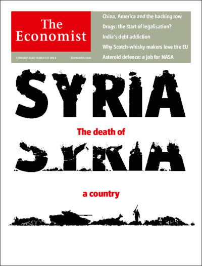 theeconomist:  This week's cover: as Syria disintegrates, it threatens the entire Middle East. The outside world needs to act before it is too late.