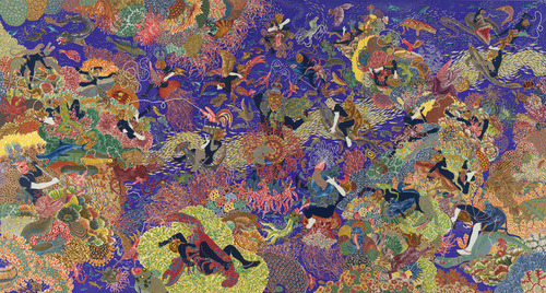 sonyishappy:  One of Raqib Shaw's pieces from the Garden of Earthly Delights series.