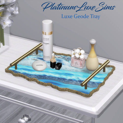 xplatinumxluxexsimsx:    Luxe Geode Tray  • Six swatches!DOWNLOADPatreon early access - Public 23rd September.  DO NOT - Reupload, Include my mesh in your lots / rooms / blender scenes for download or on pay sites (always link back to my page so they can download directly), Use my textures, Convert, Claim as your own or modify my mesh in any way.YOU CAN - Recolour, but don't include my mesh.     Sims 4 cc reblog #ts4#ts4cc#thesims4#thesims4cc#sims4#sims4cc#s4cc#s4#ts4ccfinds#s4ccfinds#platinumluxesims #sims 4 cc  #sims 4 cc finds #ts4 clutter #sims 4 clutter #s4 clutter#ts4 decor#s4 decor #sims 4 decor #s4 cc