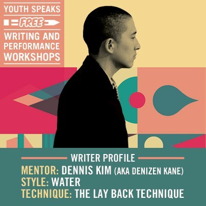 Every year, Youth Speaks presents over 500 hours of free writing and performance workshops to hundreds of teenagers in locations across the Bay Area. A place for artistic and critical growth, the free writing and performance workshops focus on different aspects of writing, from fiction, playwriting, and poetry, to performance, desktop publishing, and poetry slam.Workshops are taught by leading poets, writers, spoken word artists, and cultural activists, and typically run in 5 to 10-week blocks. Each workshop is open to any teen 13 – 19 years old (unless otherwise noted). All workshops are free and no registration is necessary. Visit http://www.youthspeaks.org for more information!