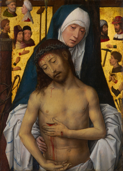 Hans Memling - The Man of Sorrows in the Arms of the Virgin; National Gallery of Victoria, Melbourne, Australia; 1479