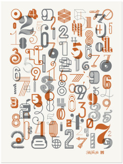 typeverything: The Numbers 2 Poster by Fifty Five Hi's & Michael Spitz.