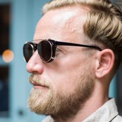 nycborn:  Sunglasses by Han Kjobenhavn haircut by @barbercide (at Freemans)  nice haircut riki