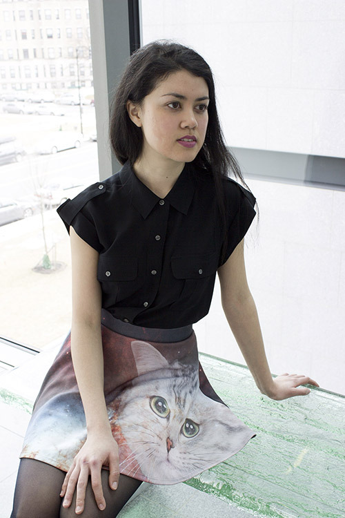 possibleworldsclothing:  Cat Galaxy skirt