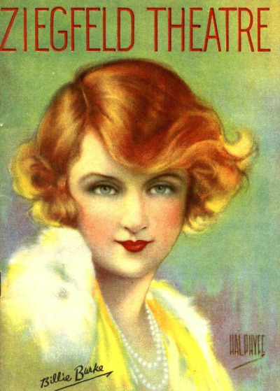 Billie Burke, by Hal Phyfe, on the cover of Ziegfeld Theater's Magazine c.1930