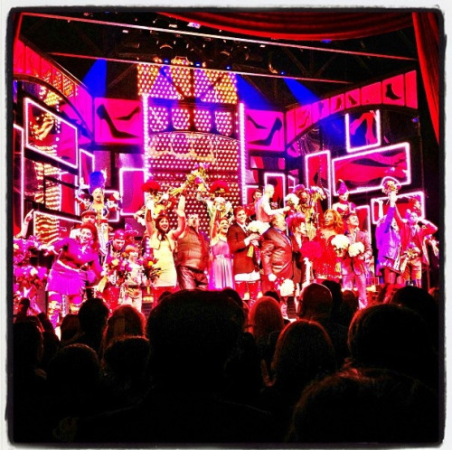 backstagegeek:  Kinky Boots opening night curtain call