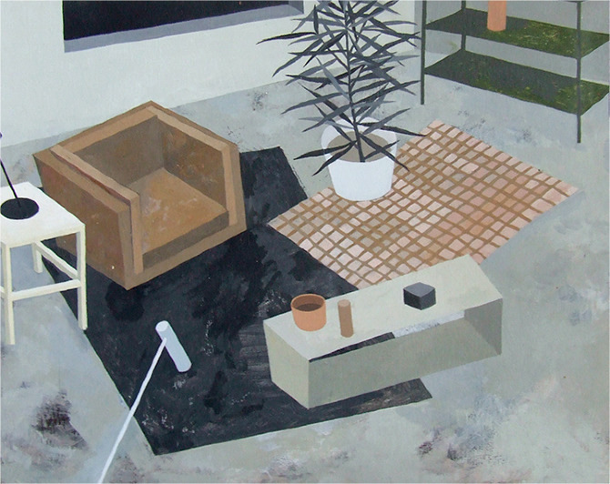 GRAY AREA (2012) acrylic on panel, 11x14""
