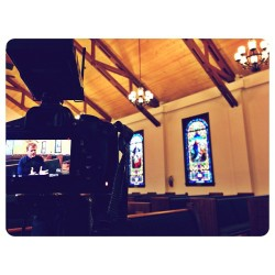 Documentary with @thederektor #sandiego #california #church #stainedglass #windows #light #camera #filmmaking #video #ucsd #project  (at Kensington Community Church)