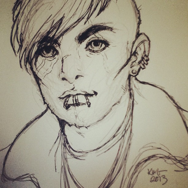 Commissioned sketch. #art #comics #punk