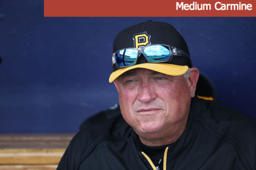 2.23.13 - Clint Hurdle Facial Hue Status: Medium Carmine