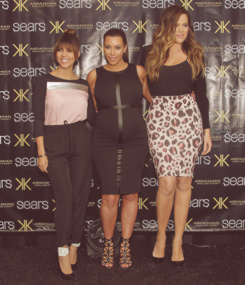 Kim, Khloe and Kourtney Kardashian at Sears to promote their line Kardashian Kollection at Willowbrook Mall in Houston, Tex-05/04/13