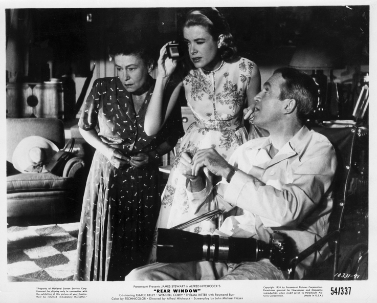 Rear Window (Publicity Still) Grace Kelly, Thelma Ritter, and Jimmy Stewart