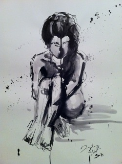18 x 24 in. India Ink 2013 One of my favorite pieces I had made recently, and since I don't have any new star wars portraits, I though I would posts this.  Also: I have a deviant art account now!!! just go to: http://whosrachel.deviantart.com/ and show some support (if you would like). I plan to update that as much as possible, and if things go south with yahoo/tumblr then you can find me there as well! Anyway that is all for now. Always with love, Taylor B.
