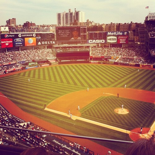 Decent view. (at Yankee Stadium)