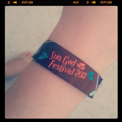 Let the #party begin c: #sungod #ucsd #lajolla #wristband #bracelet #2013 #summer #sandiego