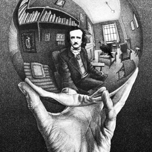"miafotographia:  ""Darkness there and nothing more."" #art #eap #edgarallanpoe #poe #poet #poetry #bookart #bookworm #bibliophile #blackandwhite #raven #quoththeraven #quotes #picoftheday #darkness #poems #nevermore #nevermoreprints"