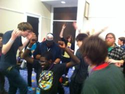 spaceboyfriendmusic:  I'm gonna go ahead and say it.  I killed it at MAGfest.  Hey, now, who's this sexy fellow in the RetroforceGo shirt?