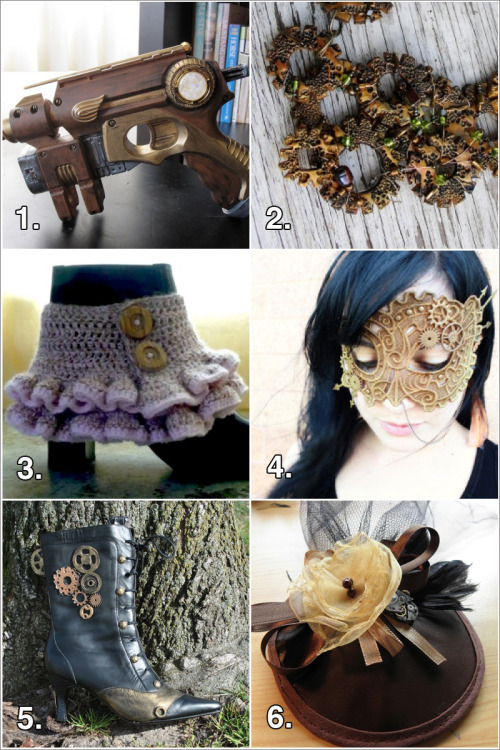 DIY Roundup Six Steampunk Craft Tutorials from Fave Crafts here.