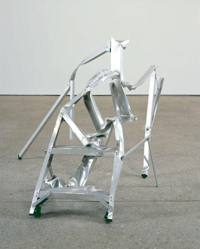 David Shrigley Crushed Ladder 2008 Aluminum