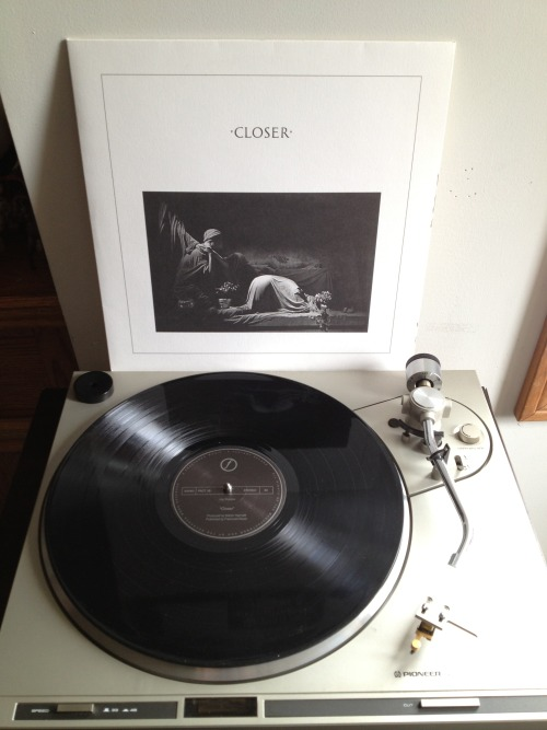 jocelynsrecordcollection:  Joy Division - Closer Black LP, 2007 (originally released 1980) Rhino Records (USA)