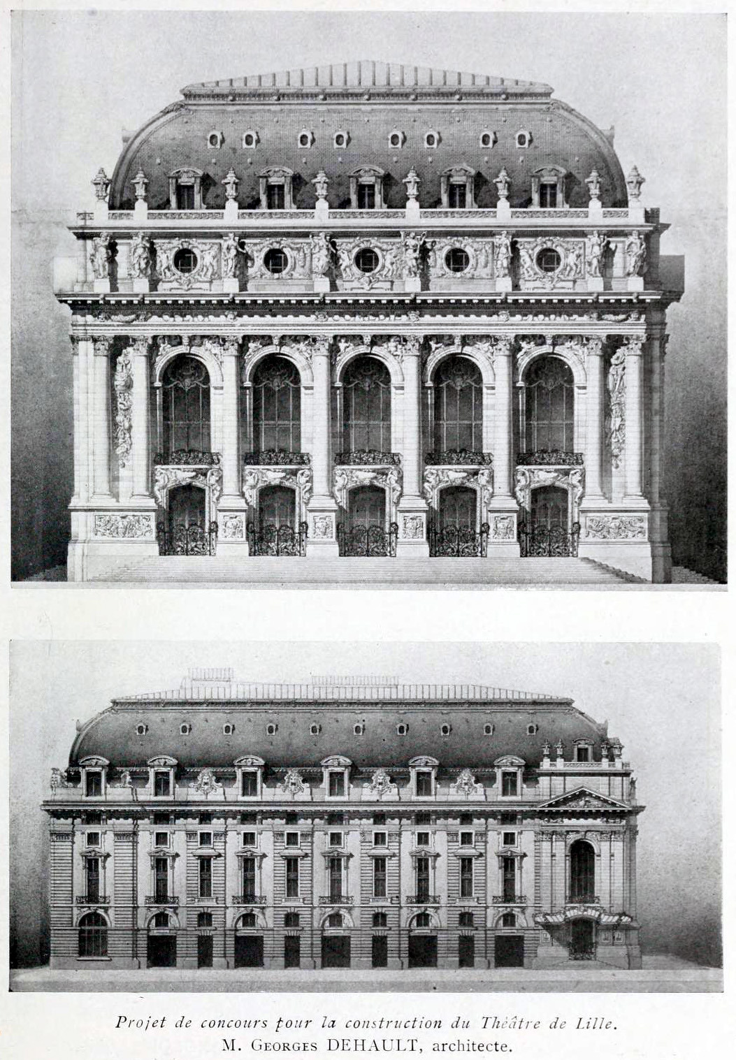 Competition proposal for the new theatre, Lille