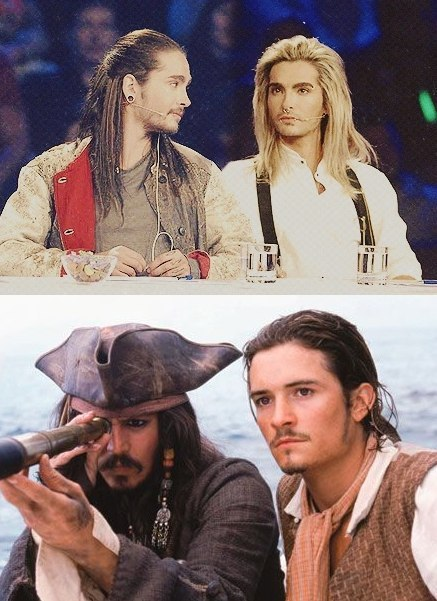 SEE! TOM LOOKS LIKE WILL TURNER DAMN IT!  And I guess Bill looks like the blonde version. BUT YEAH!