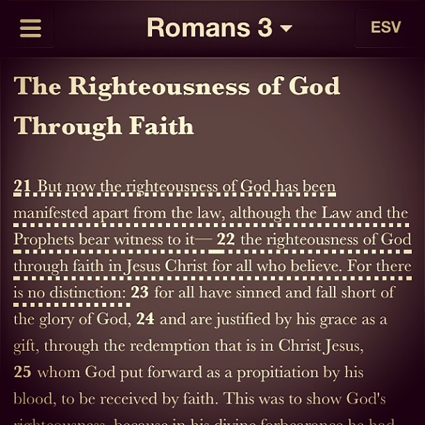 Righteousness comes from faith.