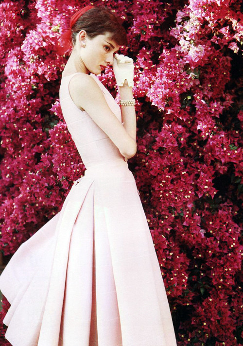 Audrey Hepburn photographed by Norman Parkinson c. 1955