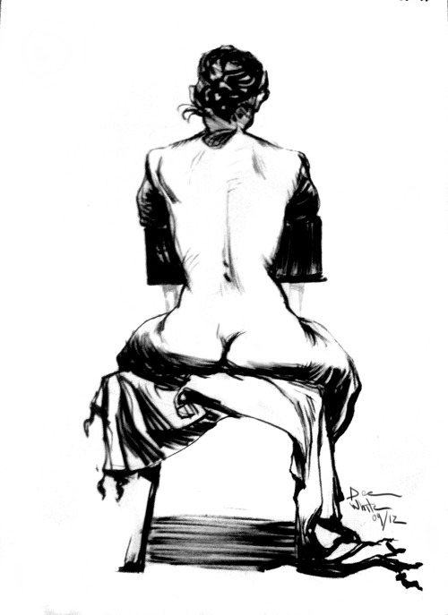 Figure Drawing 20 minutes 7in, 10 inch made myself just use a brush pen and focus on trying to learn to handle ink better. Done in September of 2012