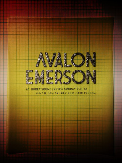 Avalon Emerson at Honey Sundays on 2.10.13 Poster by J. Sperber