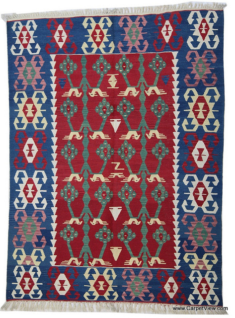 Wool kilim rug from Turkey by CarpetView on Flickr.