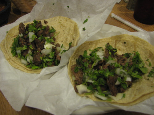 Nothing like some authentic steak tacos. These are courtesy of De Pasada. If you are in Chicago and near University Village/Little Italy, then check out this place. They also have great horchata!