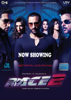 New releases: Race 2 (Hindi) releasing 24th January at VOX Cinemas Deira City Centre, Mirdif City Centre, Mall of the Emiratesand Ajman City CentreStars : Anil Kapoor, Saif Ali Khan and John AbrahamGenre : Thriller/Action/CrimeDirector : Abbas Alibhai Burmawalla, Mastan Alibhai BurmawallaTrailer link : http://www.youtube.com/watch?v=9CwQ9PCISWkThe story of Race 2 is set in the lush locales of exotic Europe, with a backdrop of gambling and Casinos. A fast paced thriller that takes the legacy of 'Race1' forward, with high octane action, combined with thrills and twists that have a roller coaster effect, and edge of the seat excitement.