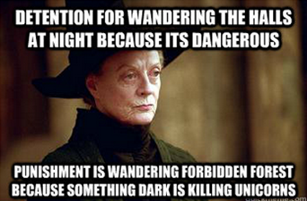 daily-harry-potter:  Professor McGonagall Logic…http://daily-harry-potter.tumblr.com
