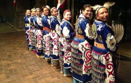 Native American Women Warriors Celebrate Inauguration While Raising Awareness for Native Female Veterans At the Denver March Powwow of 2010, three female veteran soldiers representing their Crow, Northern Cheyenne and Navajo nations were preparing to join the grand entry proceedings in which color guards honor veterans to begin the festivities. Among them was Mitchelene BigMan, who had designed her jingle dress to represent her status as a Native woman veteran of the U.S. Army.