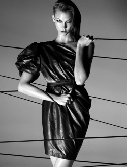 timeless-couture:  Parallel Lines Karlie Kloss photographed by Lachlan Bailey for Numéro #112 April 2010