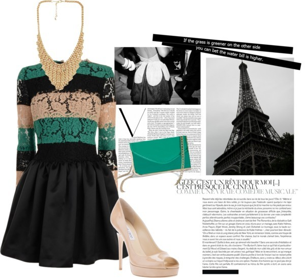 Paris by loulovescolgate featuring short dressesMSGM short dress, $1,000 / Jimmy Choo platform heels, $760 / GUESS by Marciano patent leather handbag / Chain necklace, $160 / by Jessica Craig-Martin 20x200