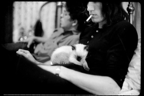darthvaderinisinkilici:  Roger Waters with cat.
