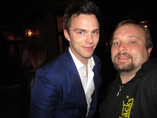 funkingnicholashoult:  He was a little drunk  Riley in the back